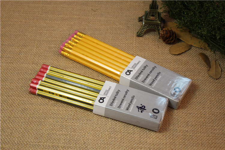 Student pencil with stripe
