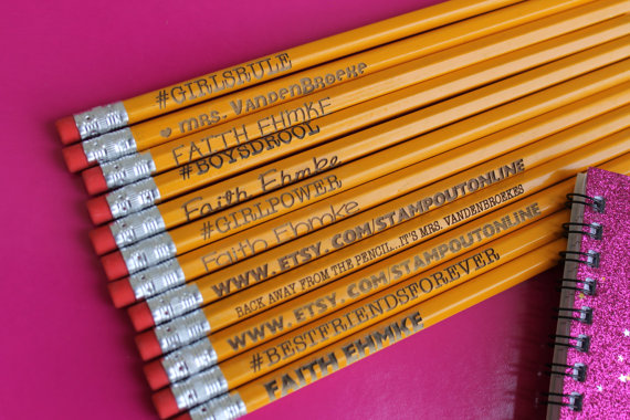 custom hex pencils
